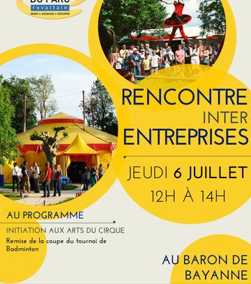 RENCONTRE INTER-ENTREPRISES - CLUB DU PARC ROVALTAIN