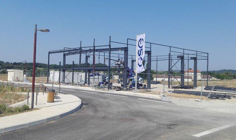 Clid Systèmes construit actuellement son bâtiment sur le parc d'acxtivités de Rovaltain
