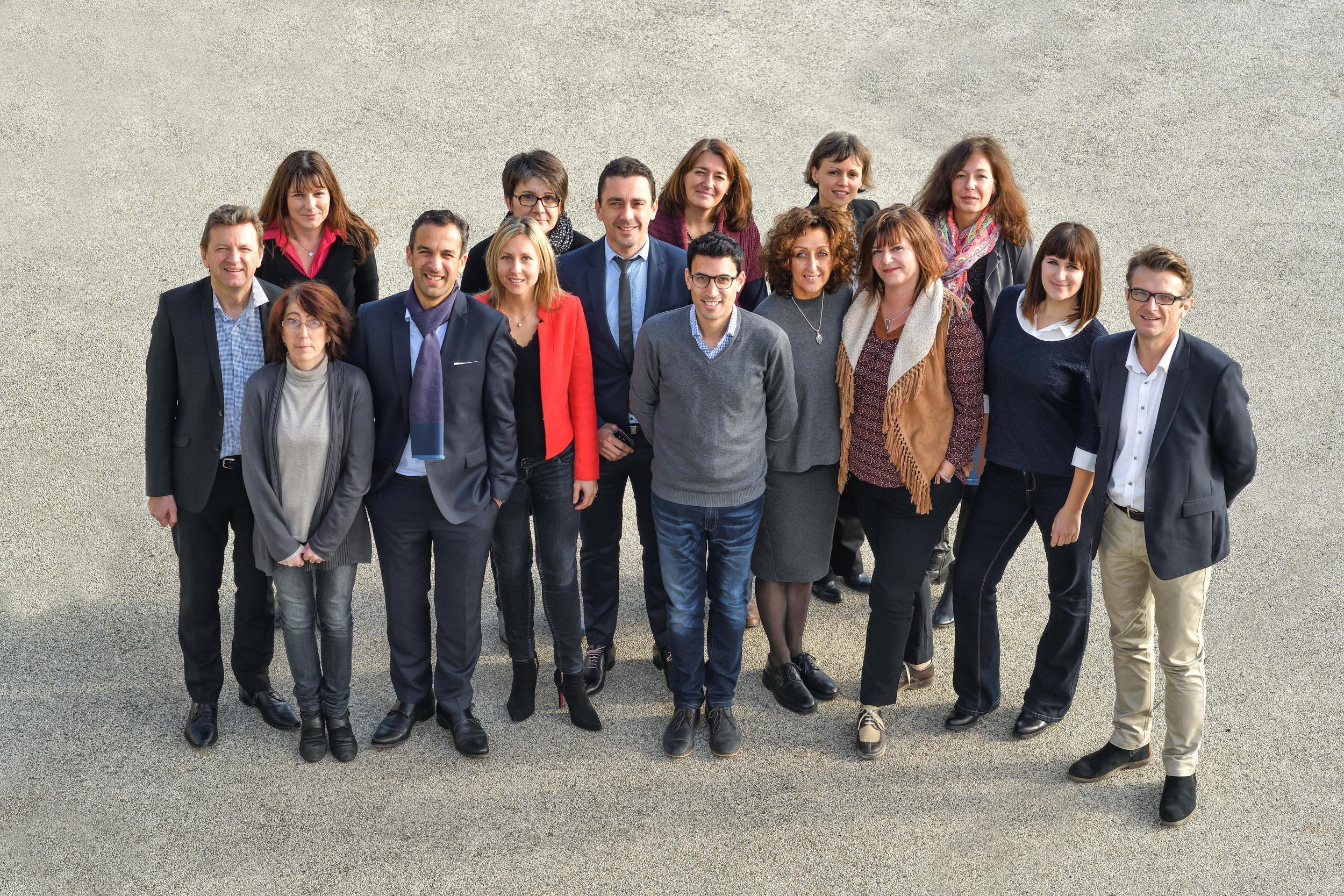 L'équipe du département Développement économique et Attractivité de Valence Romans Agglo, qui gère le parc d'activités de Rovaltain Valernce TGV