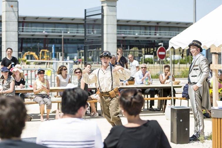 Challenge mobilité 2015 a Rovaltain - pique nique et convivialité valence tgv