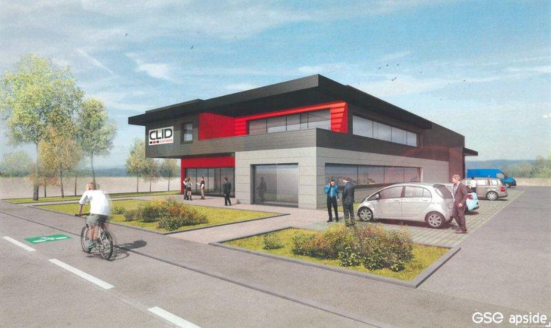 Clid Systèmes construit un bâtiment de 860m²  sur le parc d'activités de Rovaltain, Valence TGV