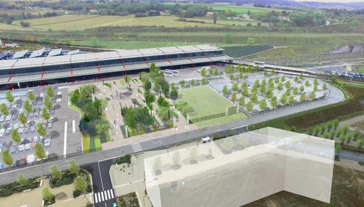 Aménagement du pole d'échange multimodale de la gare Valence TGV et ouverture sur le parc d'activités de Rovaltain