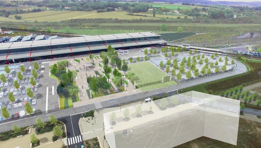 L'anégement du parvis de la gare Valence TGV est prévue pour 2018 à Rovaltain