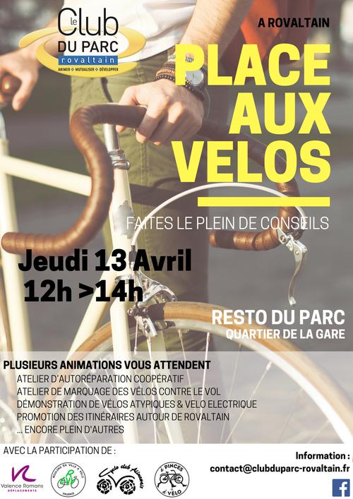 Le CLub du Parc Rovaltain propose une évènement dédié à la pratique du vélo