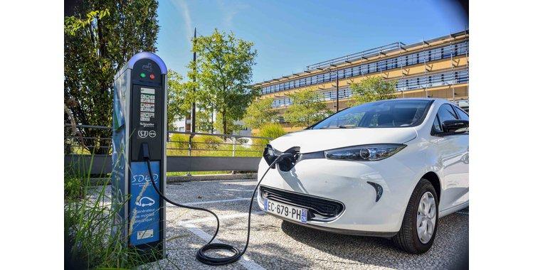 Photo Borne de recharge pour véhicules électriques