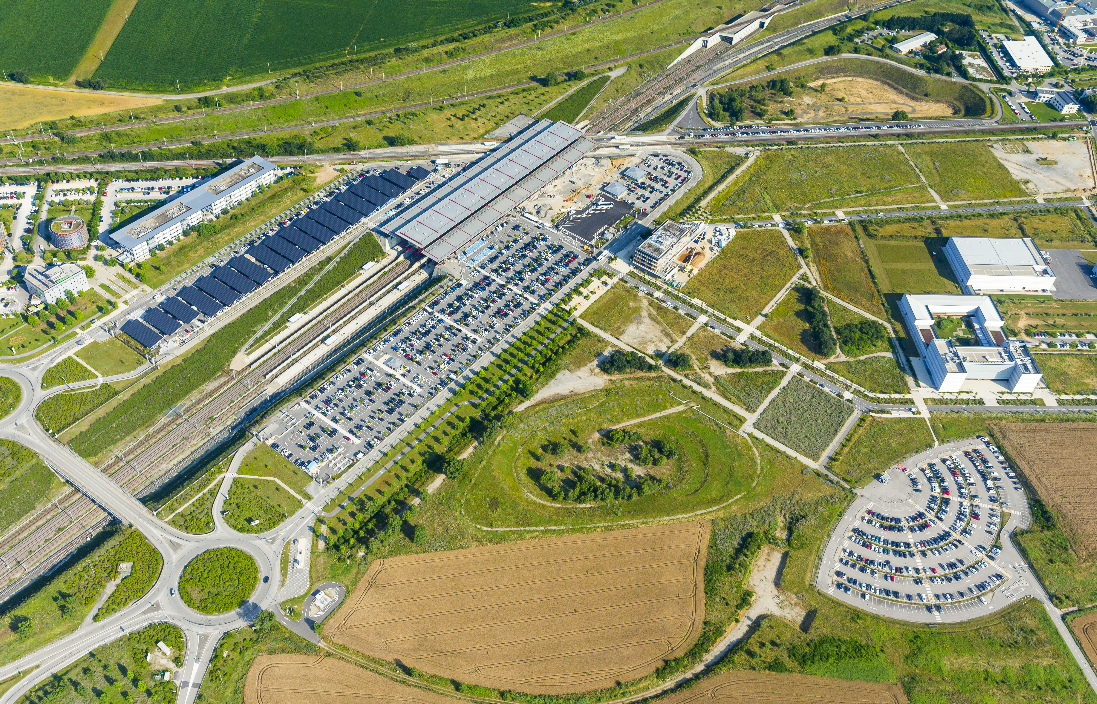 Parking P4 Vercos à Rovaltain Valence TGV