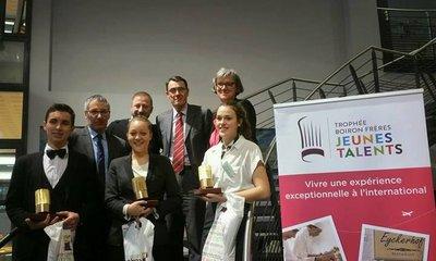Le 10 janvier 2017 Les Vergers Boiron ont récompensés 3 cuisiniers