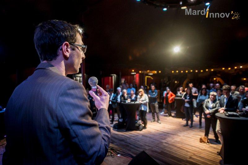 5 entreprises ont pitché devant un public de professionnel à l'occasion de la 10eme édition de Mardinnov, à Rovaltain, Drôme