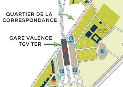 Quartier de la Correspondance sur le parc Rovaltain, en front de gare Valence TGV. Destination idéale sur l'on souhaite quitter Paris