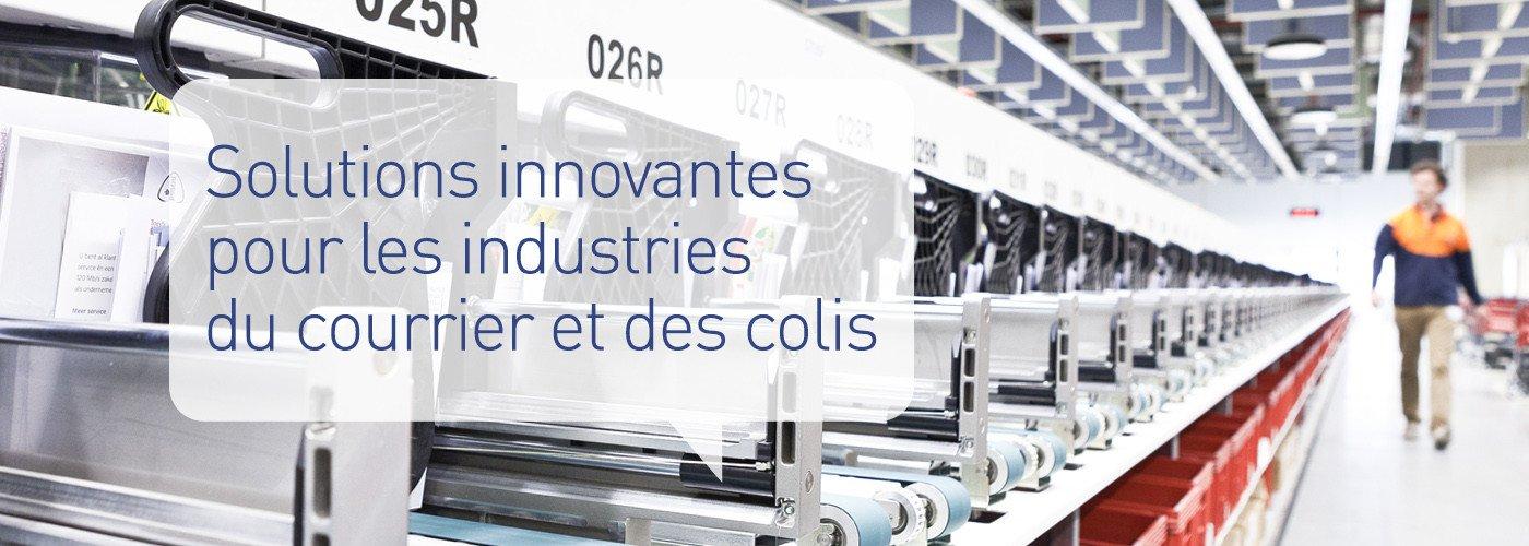 Solystic propose des solutions innovantes pour les industries du courrier et des colis.