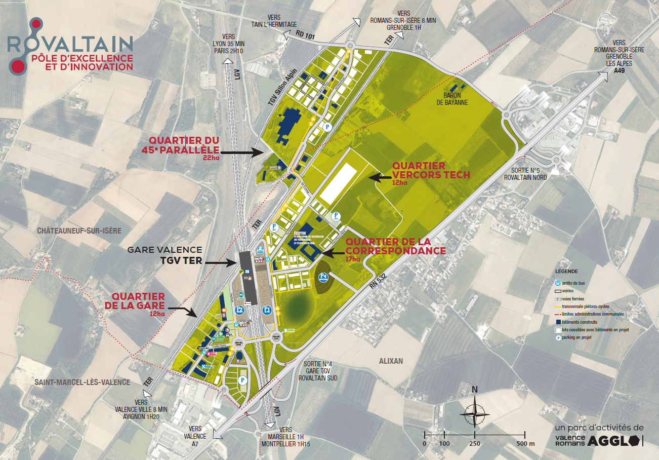 Map of Rovaltain business park