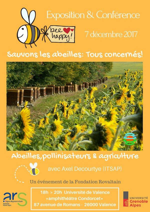 """La Fondation Rovaltain organise la conférence """"sauvons les abeilles"""", à Valence"""