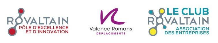 Les partenaires du Challenge Mobilité : CLub Rovaltain, Parc d'activités de Rovaltain - Valence Romans Agglo, Valence Romans Déplacements