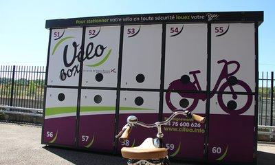 La consigne Vélobox de Valence TGV peut contenir jusqu'à 10 vélos