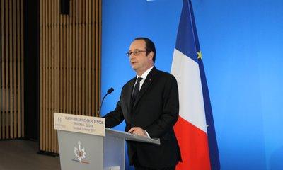 François Hollande a inauguré le Pole Ecotox de Rovaltain, dans la Drôme