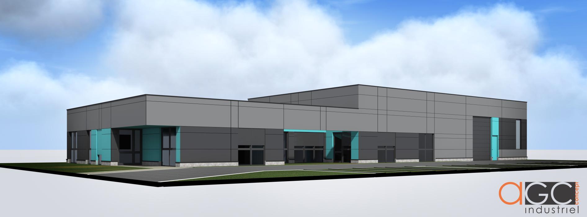Perspective du futur bâtiment de BRO Brumisation à Rovaltain